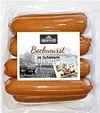 Delikatess Schäldarm Bockwurst frisch, zart & knackig   Würstchen geräuchert   Ideal für Curry-Wurst Premium-Qualität 8 x 100g