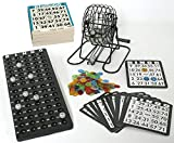 KSS Großes Bingo Spiel + 500 Bingokarten Bingo Spiel Set Metall Bingotrommel Bingo-Mühle Lotto-Trommel Tombola Auslosung