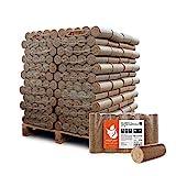 PALIGO Holzbriketts Hartholz Nestro XL Kamin Ofen Brenn Holz Heiz Brikett 10kg x 96 Gebinde 960kg / 1 Palette Heizfuxx