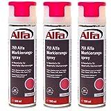 Markierungsspray 3 x 500 ml (1,5 Liter) Neon-Pink für saubere und präzise Markierungen mit flexibler 360 °C Sprühanwendung (Überkopffunktion) auch für feuchte Untergründe und Minustemperaturen