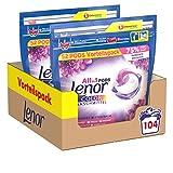 Lenor Waschmittel Pods All-in-1, Color Waschmittel, Farbschutz, Amethyst Blütentraum, 104 Waschladungen