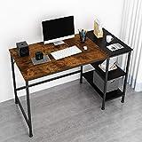 JOISCOPE Computertisch,Latop-Tisch, Bürotisch,Studiertisch mit Holzregalen,Einfache Montage,fürs Büro, Wohnzimmer Industrietisch aus Holz und Metall.47 Zoll (Eiche Vintage-Ausführung)