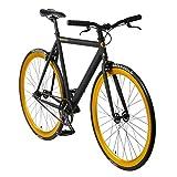bonvelo Singlespeed Fixie Fahrrad Blizz Heart of Gold (XL / 59cm für Körpergrößen ab 181cm)