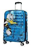 American Tourister Wavebreaker Disney - Spinner M Koffer, 67 cm, 64 L, Blau (Donald Duck)
