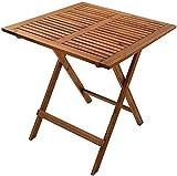 SAM Gartentisch Camelia, 62x62 cm, Balkontisch aus Akazienholz, klappbar, Holztisch massiv