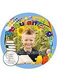 Tortenaufleger für Fototorte zum Schulanfang mit Ihrem Foto, Tortenbild Fondant Ø 20cm / 0201w