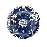 JanTeelGO Aufblasbare Schlitten für Erwachsene, Schwerlast Aufblasbare Snow Tube mit Griffen 120cm, Kratzfest, Frostbeständig, Riesenschneespielzeug für Wintersportspaß