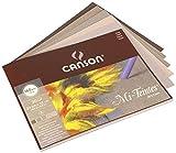 Canson 400030143 Mi-Teintes farbiges Zeichenpapier, 24 x 32 cm, 5 Farben sortiert, grau-Töne