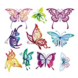 Manyo DIY Bunter Schmetterling Stickerei Applikation Für Decoreting und Patching Jacket, T-Shirt, Jeans, Hut, Kleid.