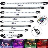GreenSun 48CM Aquarium LED Beleuchtung 16 Farb RGB-Steuerung Leuchte Lampe Lighting für Fisch Tank EU Stecker Wasserdicht