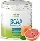 BCAA PULVER Grapefruit - Aminosäuren Complex hochdosiert - BCAAs Instant Powder vegan - Aminosäure-Pulver - 2:1:1 L-Leucin L-Isoleucin L-Valin 300g - Aminosäurekomplex