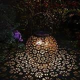 Solarlaterne für außen, Innoo Tech Solarlaterne IP65 Wasserdichte für Außen Garten, Dekorative Solarlampe Hangend Solarleuchten, Metall LED Solar Laterne für Draussen Baum Patio [Energieklasse A+]