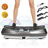 ANCHEER 3D Vibrationsplatte Dual-Motor|Fett verlieren und Fitnesstraining von Zuause|Vibro Shape Massage|mit Großer Rutschsicherer Trainingsfläche+Fernbedienung
