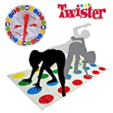 Twister Game,Twisters Spiel fur Kinder,Partyspiele fur Erwachsene Familienspiel Geschicklichkeitsspiel(2-4 Personen,ab 6 Jahren)