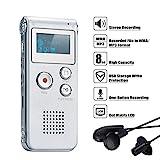 COVVY Digitales Diktiergerät, 8GB Audio Aufnahmegerät,Digitaler Voice Recorder mit Spracherkennung für Interview,Vorlesung,Unterricht,Meeting und Vorträge