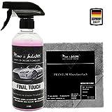 Momo's Industries ® Final Touch Premium Lack Schnellversiegelung Wachsspray inkl. Microfasertuch - Auto Glanzbooster - Sprühwachs