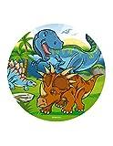 Dekora 145093 Dinosaurier Tortenaufleger aus Esspapier-20 cm