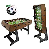 WinMax Kickertisch inkl. 2 Bälle, Klappbar mit Abdeckung Schutz Staub, 121x61x85 Faltbare Tischkicker Tischfußball