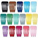 50 Stück Snap Haarspangen Bunte Metall Haarspangen Schöne Tropfenform Bonbon Farbe Haarnadeln Für Kinder Mädchen Frauen Haarschmuck