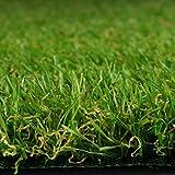 Premium Kunstrasen   Rasenteppich   Rollrasen   Kunststoffrasen   Garten-Rasen   Rasen für Balkon, Terrasse & Garten   viele Modelle   verschiedene Größen & Stärken (Riviera (Höhe: 14mm), 100x200 cm)