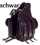 Reitsport Amesbichler Doppelpacktasche Satteltasche für Pferde, schwarz