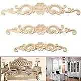 Alcyoneus, Holzdekoration, geschnitzt, für Türen, Möbel, Schränke, Holz-Dekoration, Applikationen, im europäischen Stil, holz, beige, 16*3cm