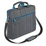 CSL - Notebooktasche für Notebooks bis 17,3 Zoll 43,9cm - Laptop Tasche Schultertasche - mit Zubehör-Fächern und widerstandsfähigen Polsterwänden - schmutz- und wasserabweisend