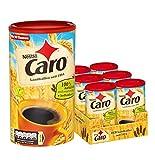 Nestlé CARO Landkaffee, lösliches Pulver aus Gerste, Gerstenmalz, Zichorie und Roggen, koffeinfrei, Menge: 6er Pack (6 x 200 g) für ca. 90 Portionen