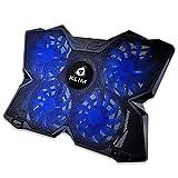 KLIM Wind Laptop Kühler - Leistungsstark Wie Kein Anderer – Schneller Kühlvorgang - 4 Lüfter PC Notebook PS4 - Belüfteter Laptop Ständer, Gamer Gaming Stützhalterung - 2020 Version - Blau