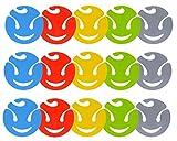 Design 15x Sockenklammern / Wäscheklammern / Sockenclips waschbar Bunt in den Farben Blau Rot Grün Anthrazit Gelb aus Kunststoff / Durchmesser 7cm / Aufhängehaken