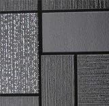 Vinyl-Tapete für Küche und Badezimmer, abwaschbar, Schwarz/Weiß mit Glitzer