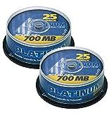 Platinum CD-R 700 MB CD-Rohlinge 52x Speed, 80 Min, 2 x 25er Spindel