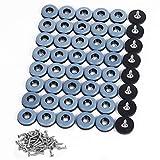 Shintop Furniture Glides, 48 Stück Teflon Möbelgleiter zum Schrauben PTFE Gleiter für Möbel Easy Mover(Blau)