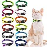 JJYHEHOT Reflektierendes Katzenhalsband, Mit Reflektoren Und Glocken, Leicht Zu Findende Katzen Oder Welpen (12 Stück)