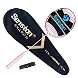 Senston Carbon Badmintonschläger N80YTP Ultraleicht Profi 6U Graphit Badminton Schläger mit Schlägertasche
