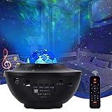 LED Sternenhimmel Projektor, Senders Sternenlicht Projektor Nachtlicht mit Starry Stern/Wasserwellen-Welleneffekt/Bluetooth Lautsprecher & Timer Perfekt für Party Weihnachten Ostern