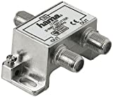 Hama 75122496 - Koaxialstecker (Coax, 2 x Coax, Male Connector/Female Connector, 5-862 MHz, 4 dB, Silber)