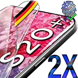 UTECTION 2X Schutzfolie für Samsung Galaxy S20 Plus - Fingerabdruck kompatibel - Premium Folie KEIN Glas - Hüllenfreundlich - Anti Kratzer Displayschutzfolie HD Ultra Clear - S20+ Schutz Displayfolie