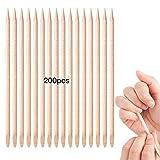 UBERMing 200 Stücke Holz Manikürstäbchen Nagelhautschieber Nagel Häutchen Stick für Die Maniküre Machen Nagel-Kunst