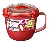 Sistema SI1142 Suppentasse 'Microwave' 565 ml, Kunststoff, rot, 11 x 13.4 x 10.7 cm