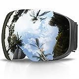 Skibrille, eDriveTech Ski Snowboard Brille Brillenträger Schneebrille Snowboardbrille Verspiegelt- Für Skibrillen Damen Herren -OTG UV-Schutz Anti Fog Verbesserte Belüftung für Skifahren, Snowboarden