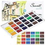 Sonnet Aquarellfarbkasten Set - 24 kräftige Aquarellfarben - Hochwertige Wasserfarben von Nevskaya Palitra…