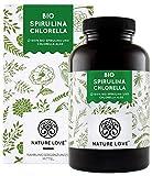 NATURE LOVE® Bio Spirulina + Bio Chlorella mit 500 mg pro Pressling. 500 Tabletten. Laborgeprüft & ohne Zusätze. Hochdosiert, vegan und hergestellt in Deutschland