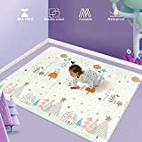 Uanlauo Baby krabbeldecke,spielmatte baby Yogamatte Große Baby Aktivität Spielen Matte rutschfest Wasserdicht Doppelseitig Spieldecke Baby 180 * 200 * 1 cm