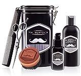 Bartpflegeset Bartpflege aus Deutschland Mr Burton´s - inkl. Bartöl classic (50ml), Bartshampoo (200ml), Bartbürste, Bartschere und Kamm
