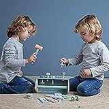 Tiamo Little Dutch 4434 Kinder Holz Werkzeugkasten 20-teilig Mint blau