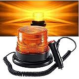 Warnleuchte Warnlicht 360 ° Rundumleuchte Auto Signal Mit 12v/24v Zigarettenanzünder Stecker Super Magnetfuß Blitzleuchte (Orange)