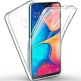 AROYI Samsung Galaxy A20e Hülle 360 Grad Handyhülle, Silikon Crystal Full Schutz Cover [Hart PC Zurück + Weich TPU Vorderseite] Vorne und Hinten Schutzhülle für Samsung Galaxy A20e (5,8 Zoll)