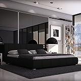 SEDEX Luna Bett 180x200cm / Polsterbett/Designerbett/Kunstleder - schwarz
