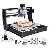 Upgrade CNC 3018 Pro Fräsmaschine Laser Graviermaschine,Vogvigo Holz Router Kit GRBL Steuerung DIY Mini CNC Maschine 3D Graviermaschine, 3 Achsen Kunststoff Acryl PCB PVC Fräse mit Offline Controller